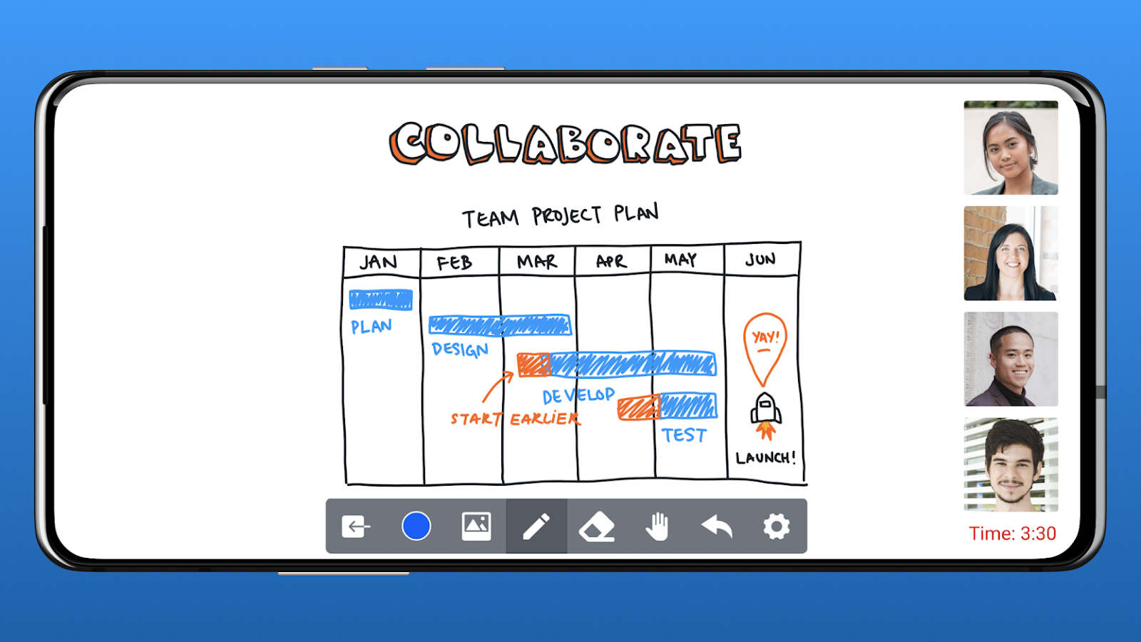 Online teaching ideas: Collaborate on HeyHi's online whiteboard