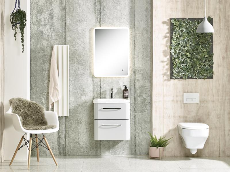 Eskimo Heats electric towel warmer in a designer bathroom