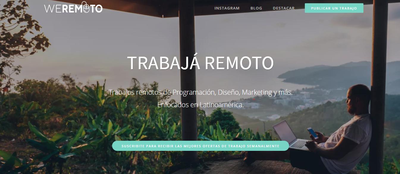 WeRemoto - Remote Jobs Website
