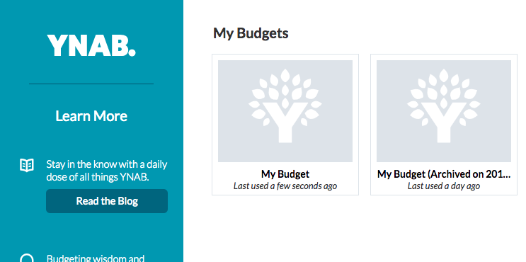 YNAB Fresh Start (Archived Budget)