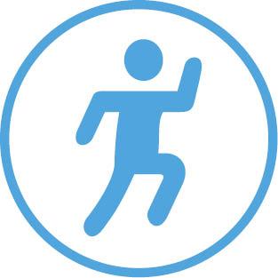 Little active blue person