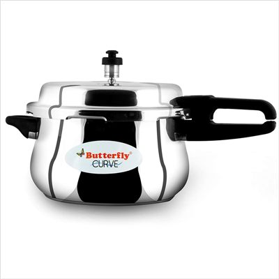 Butterfly Curve 5.5 Litre Stainless Steel Pressure Cooker