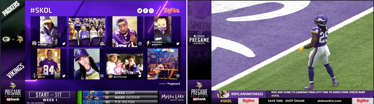 Minnesota Vikings Pregame Show Interactive L-Bar