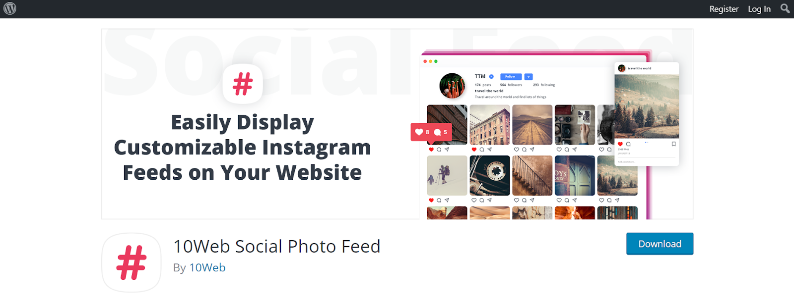 Instagram marketing tools for WordPress