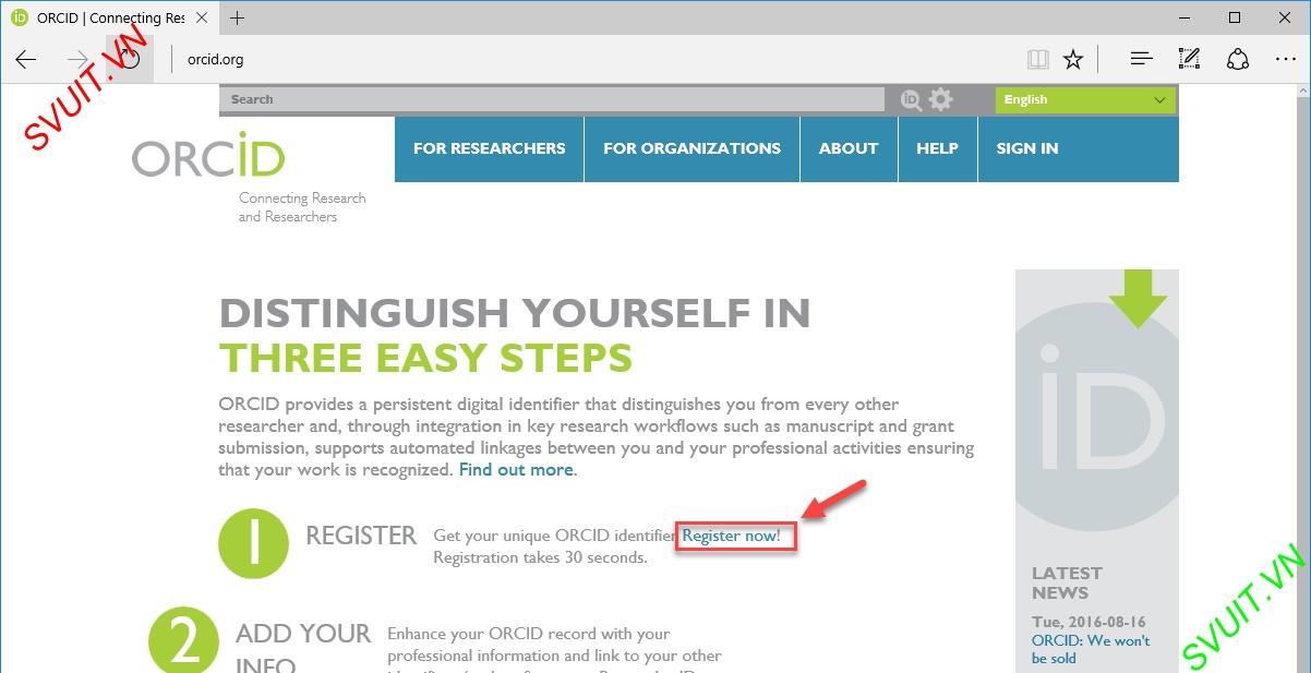 Hướng dẫn đặt Backlink trên ORCID.ORG(2)