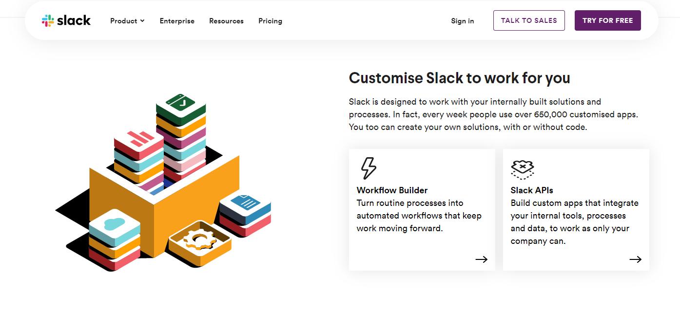 Product Customization - Slack - Workflow