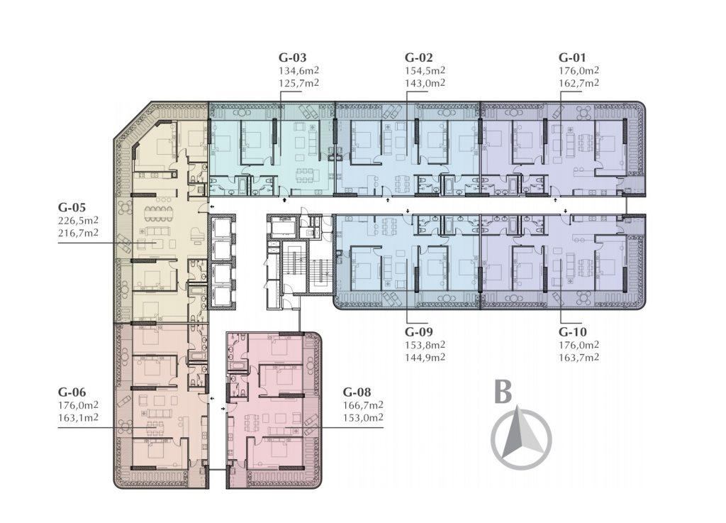 Mặt bằng thiết kế căn hộ