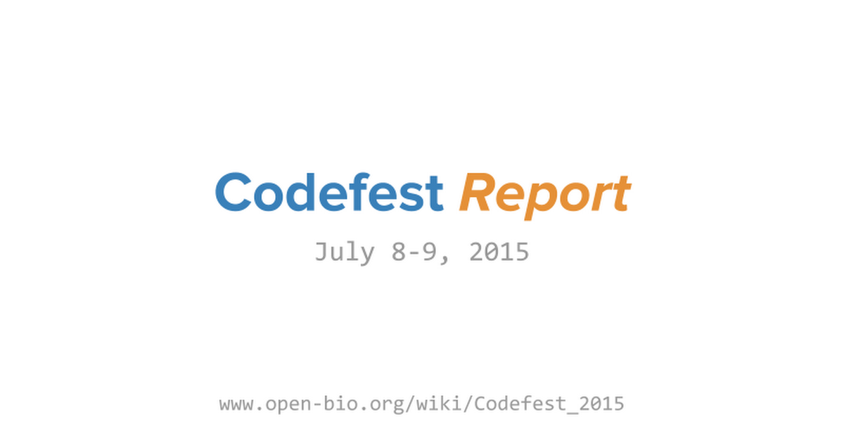 Thumbnail for Codefest 2015 report