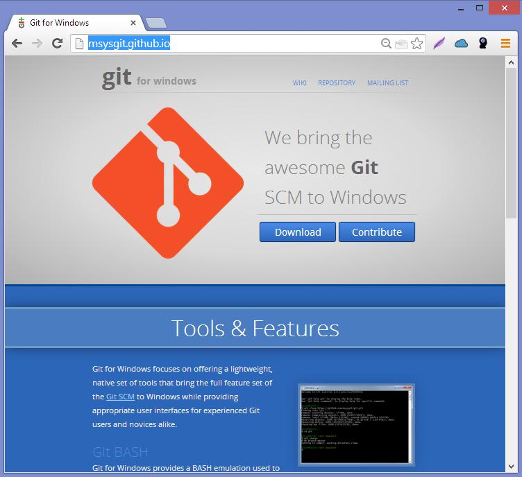 Setup Steps: Git For Windows XP Installation