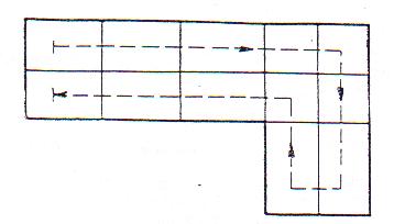 Obrázek 6.1.3 – 1: Příklad pořadí zapisování stavebních konstrukcí: