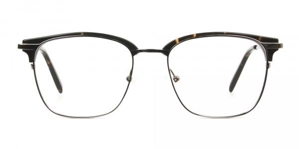 Browline tortoiseshell glasses
