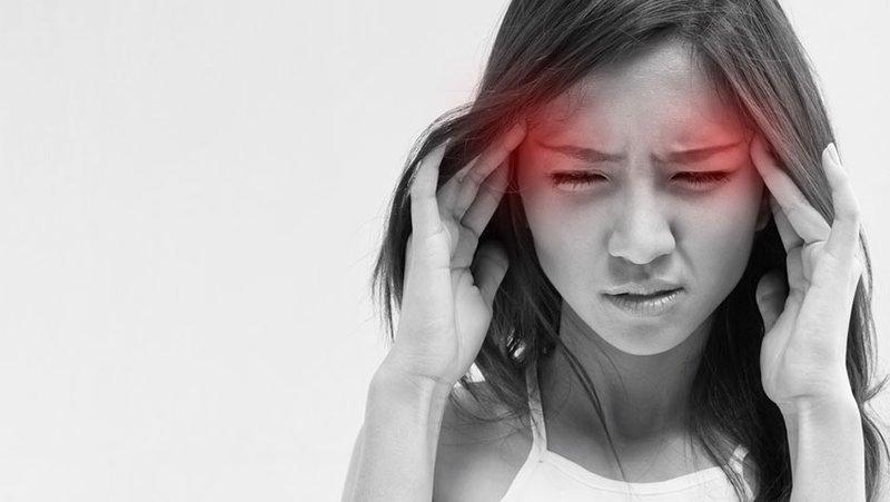 Hình ảnh bệnh nhân bị đau nửa đầu
