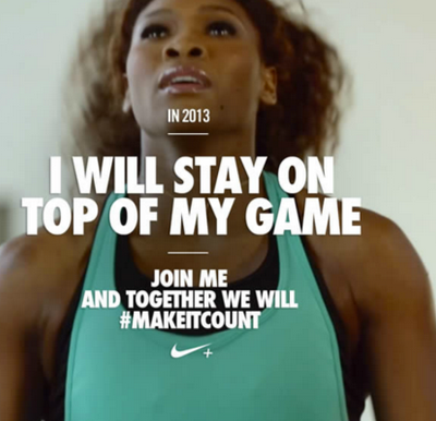 Nike created a marketing campaign that featured the hashtag #makeitcount on social networks.