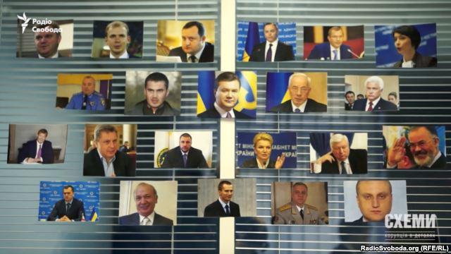 Найближче оточення екс-президента Віктора Януковича, до якого Євросоюз застосував санкції