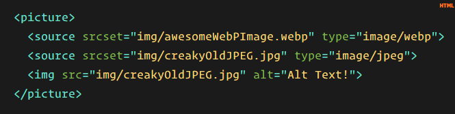 Webp HTML