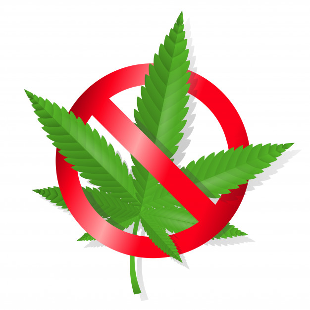 The UK law use this image to say no to Cannabis