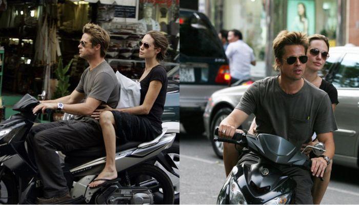 Hình ảnh Angelina Jolie – Brad Pitt đến Việt Nam du hí, tự lái xe máy vi vu  khắp Sài Gòn bị 'đào mộ'