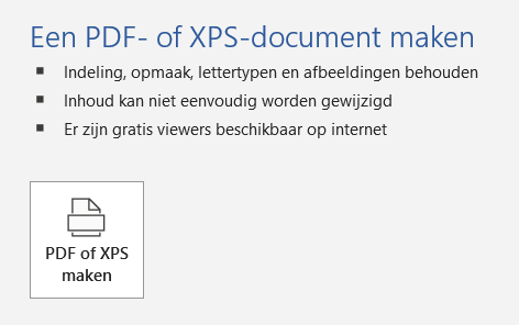 word naar pdf omzetten via word
