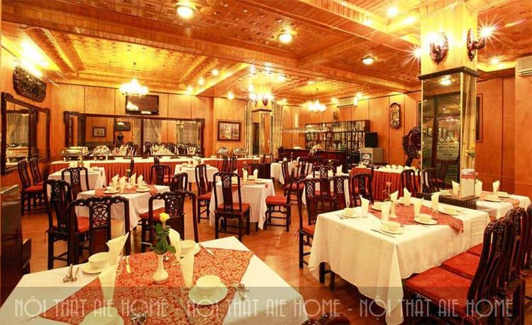 Mẫu thiết kế nhà hàng với không gian sang trọng