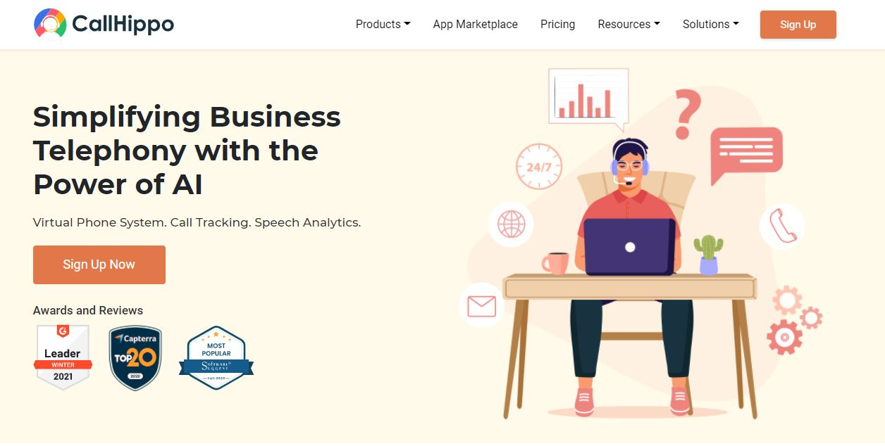 CallHippo is one of the Small Business Phone Services