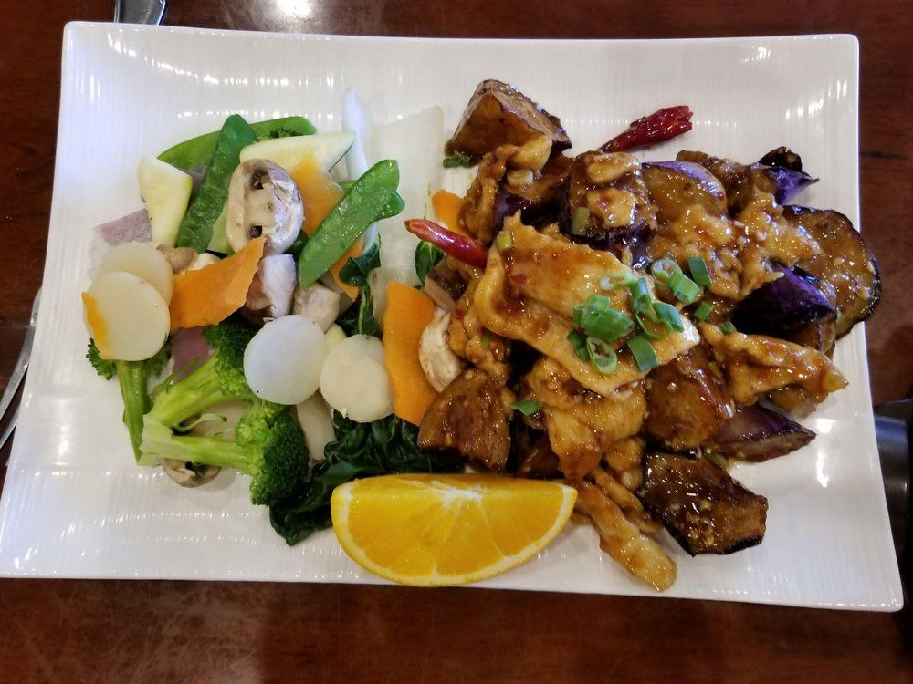 Photo of Dragon's Spring Restaurant - Pleasant Hill, CA, United States. Eggplant chicken