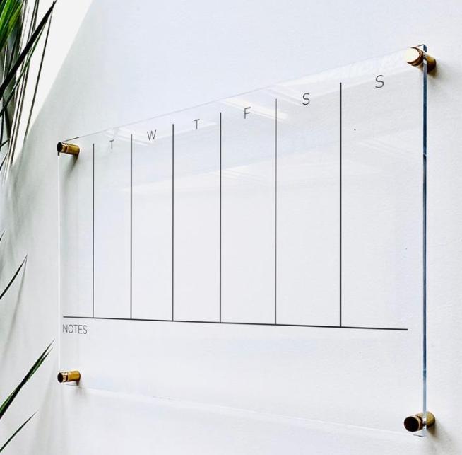 acrylic calendar gift idea for work from home office