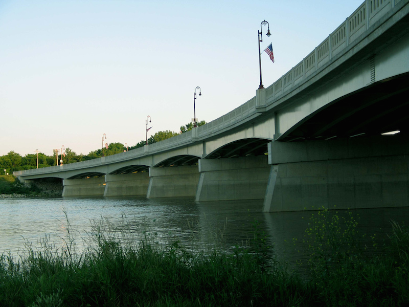 large bridge over Maumee River