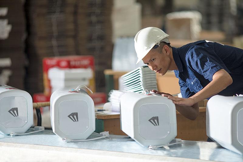 Bình nóng lạnh Olympic được sản xuất trên dây chuyền đạt tiêu chuẩn châu Âu