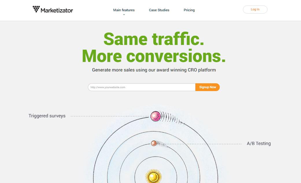 Omniconvert homepage