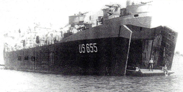 The 655 at anchor in Lake Bizerte
