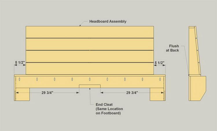 Чертеж раскладной модели дивана