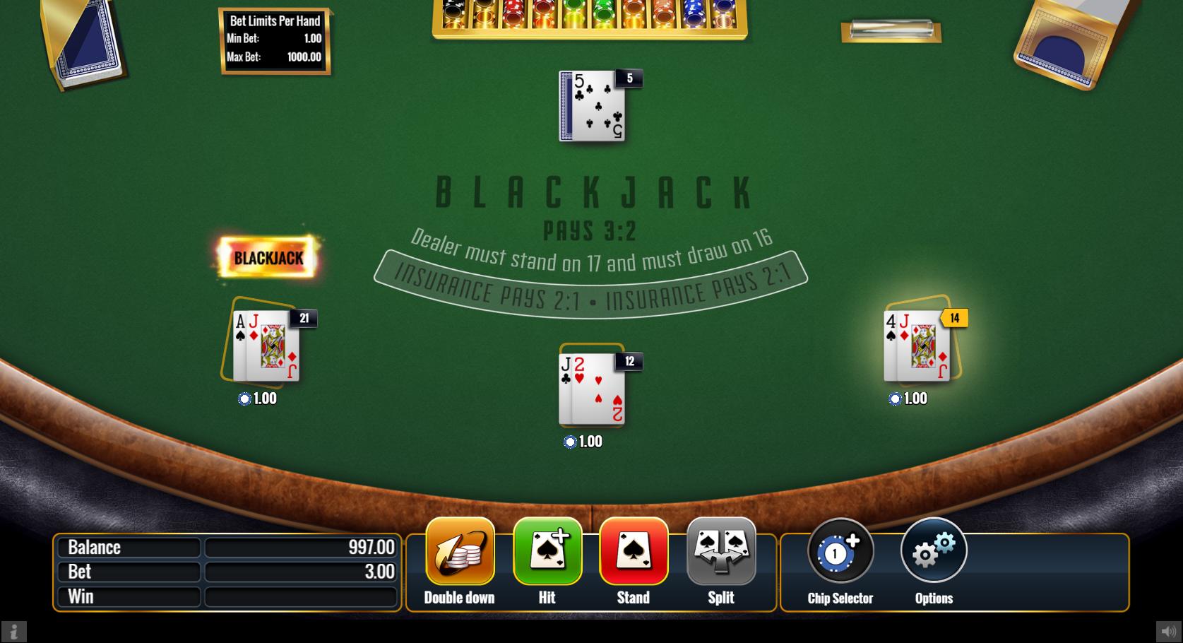 Unibet NJ Online Blackjack