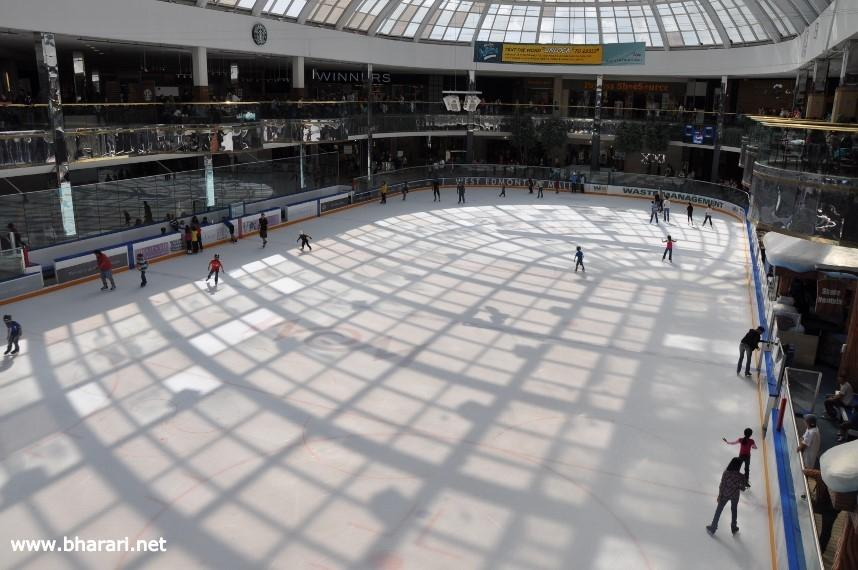 An ice-skating rink in the West Edmonton Mall