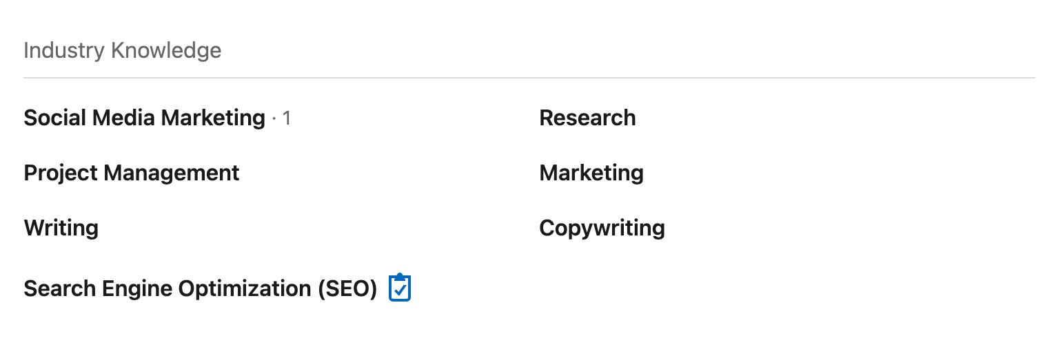 Linkedin profile skill quiz award badge