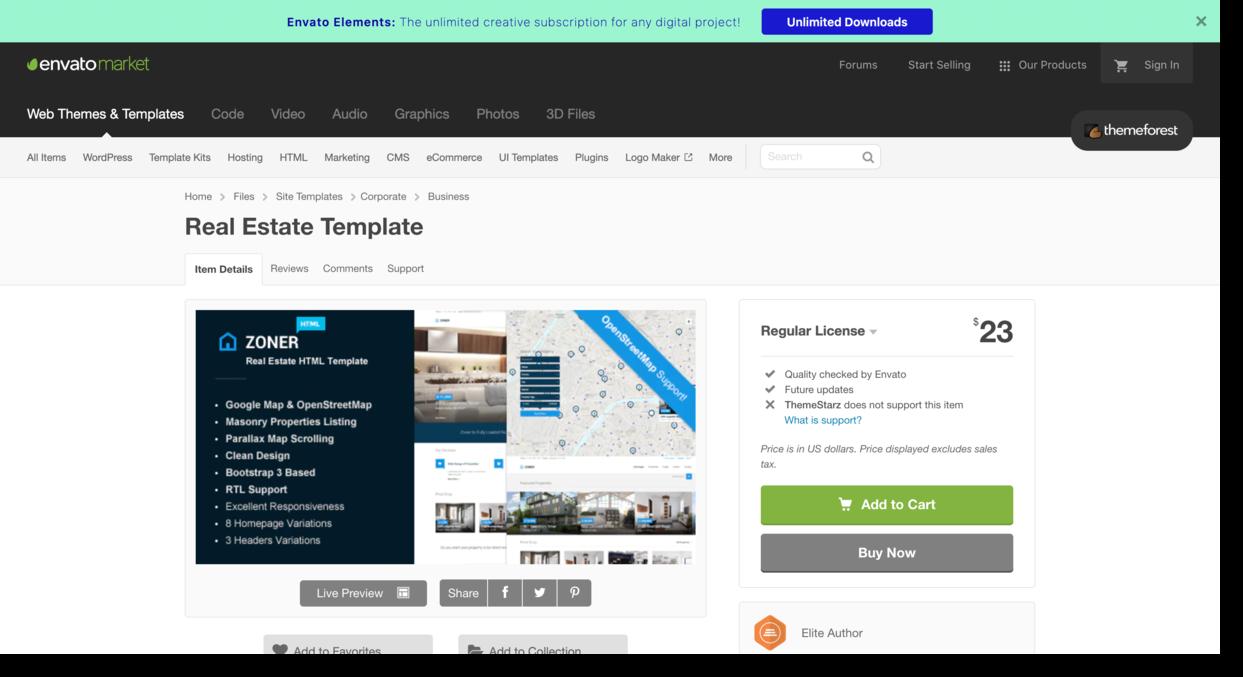 Real Estate Template on envato market Real Estate Website Design