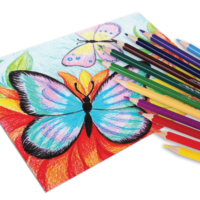Цветные карандаши - виды и их свойства