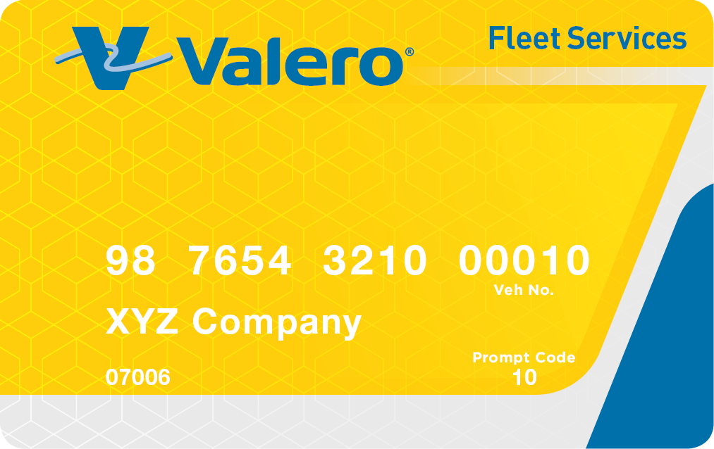 valero fleet card