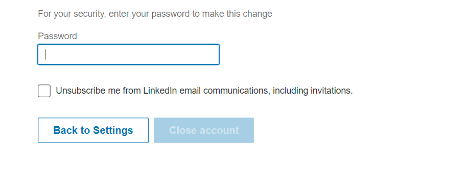 how to delete linkedin account 2018