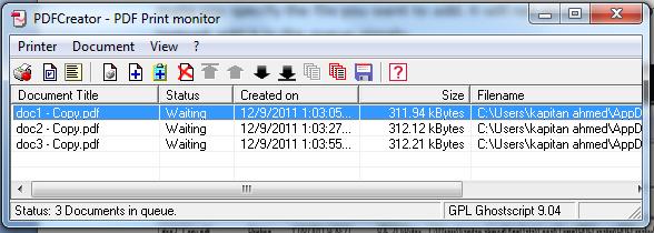 PDF Print Monitor