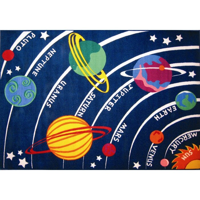 Solar System Playroom Area Rug
