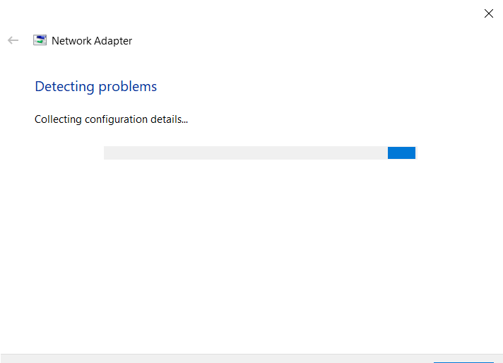 Network adapter - Detecting problems