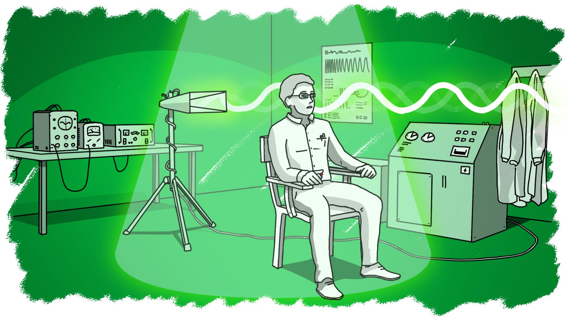 Иллюстрация - воздействие волн на мозг
