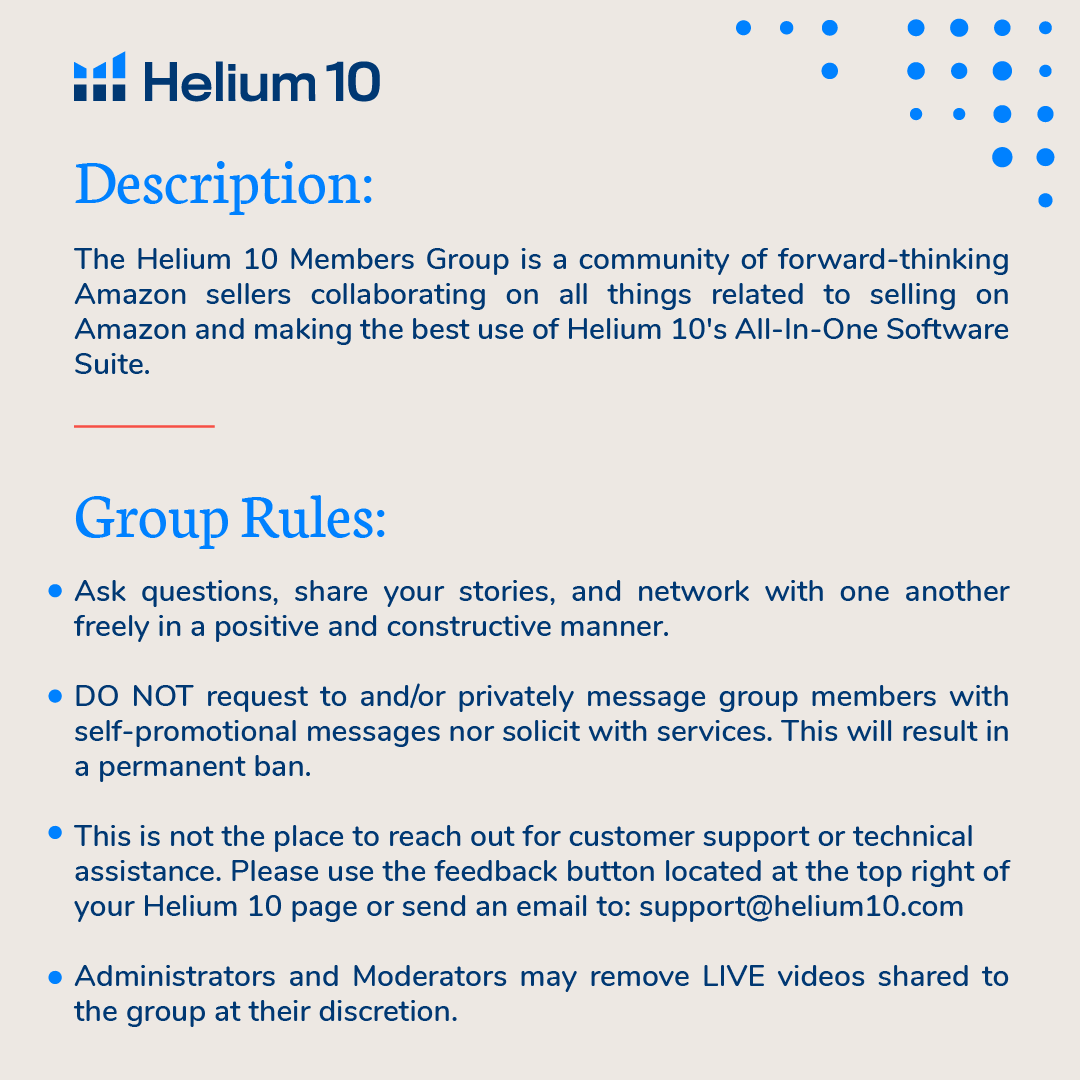 helium 10 facebook group