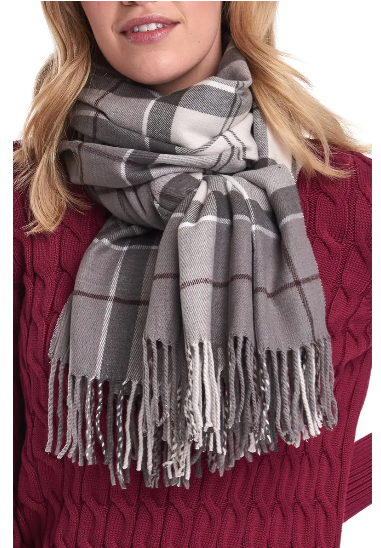 grey plaid scarf Amazon