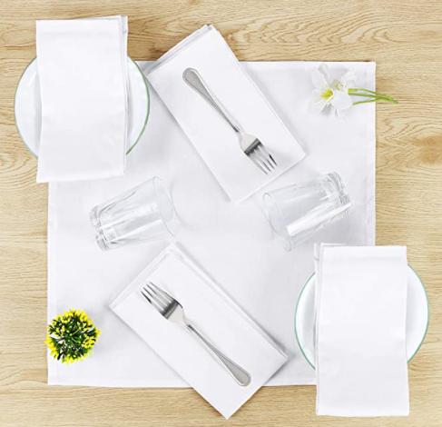 white cloth napkins amazon