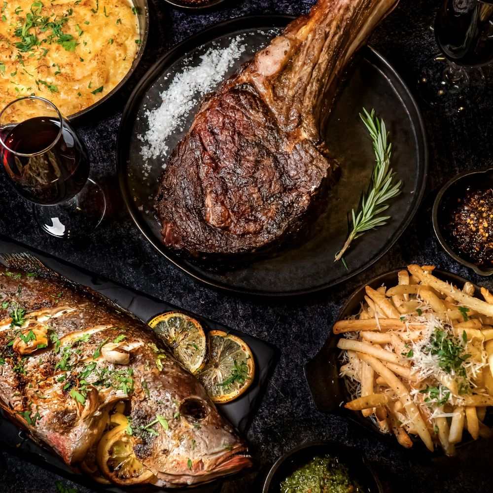 Tomahawk Surf & Turf Wine Set from Bedrock Bar & Grill, delivered islandwide in Singapore, powered by Oddle
