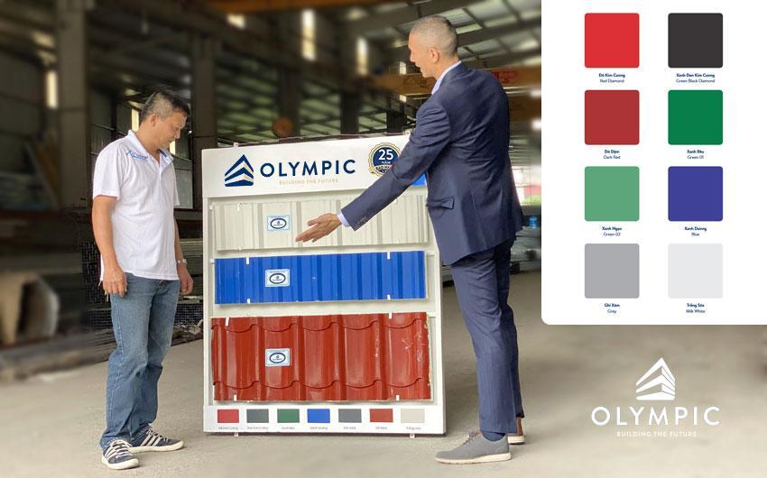 Tôn lợp mái Olympic – Giải pháp an tâm cho mọi công trình