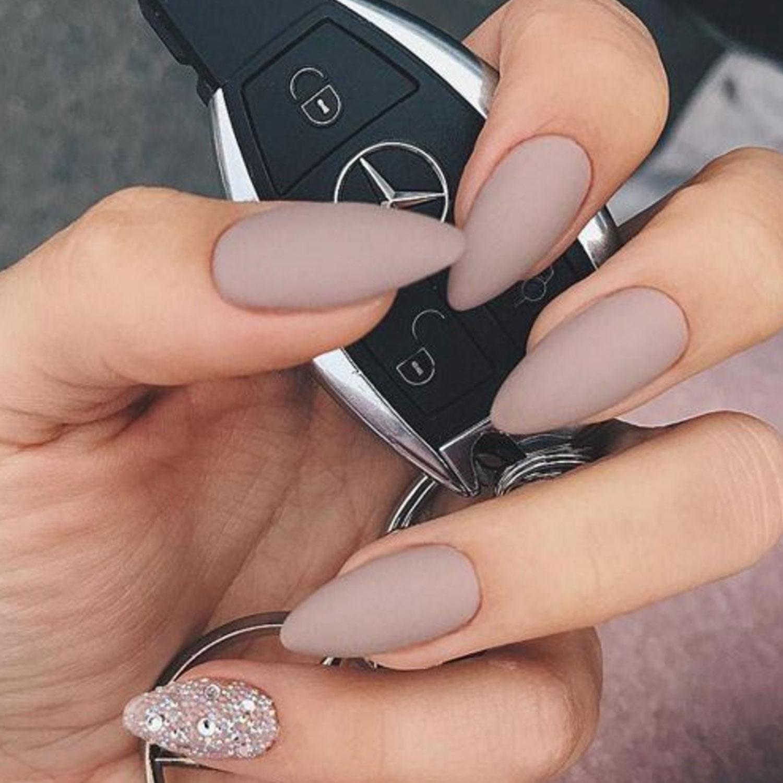 Sand Colour Celebrity Nails