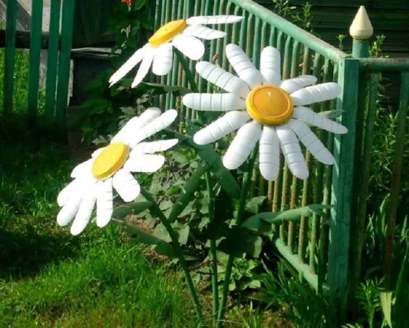 Самодельные ромашки для сада
