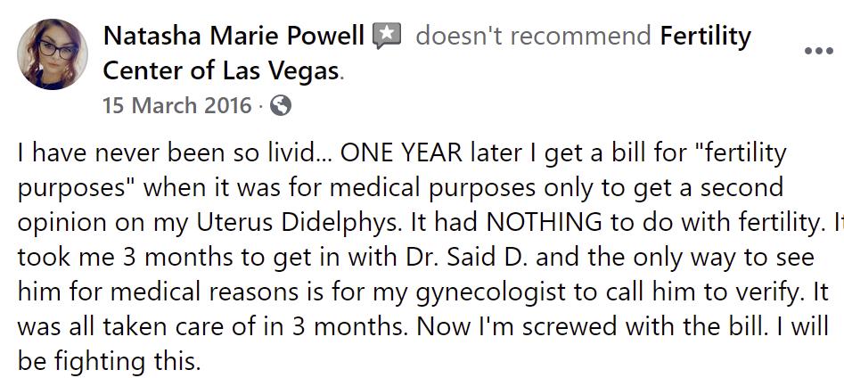 The Fertility Center of Las Vegas review